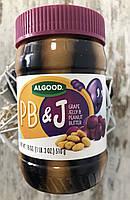 Арахисовая паста Great Value, Algood с виноградным джемом, 510грамм