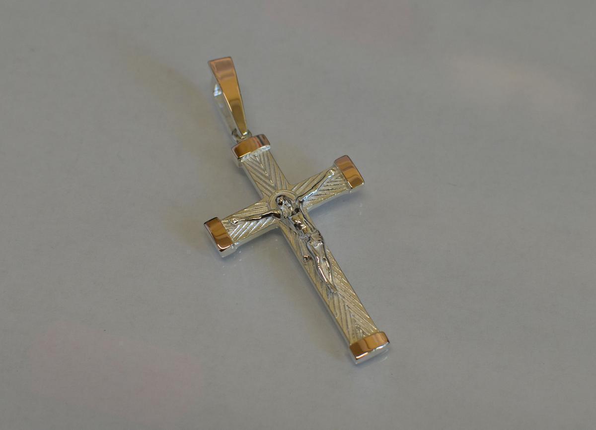 Серебряный мужской крест к-7