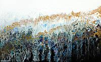 """Картина абстракция акрилом на холсте и деревянном подрамнике  """"Мираж"""", 80*50см"""