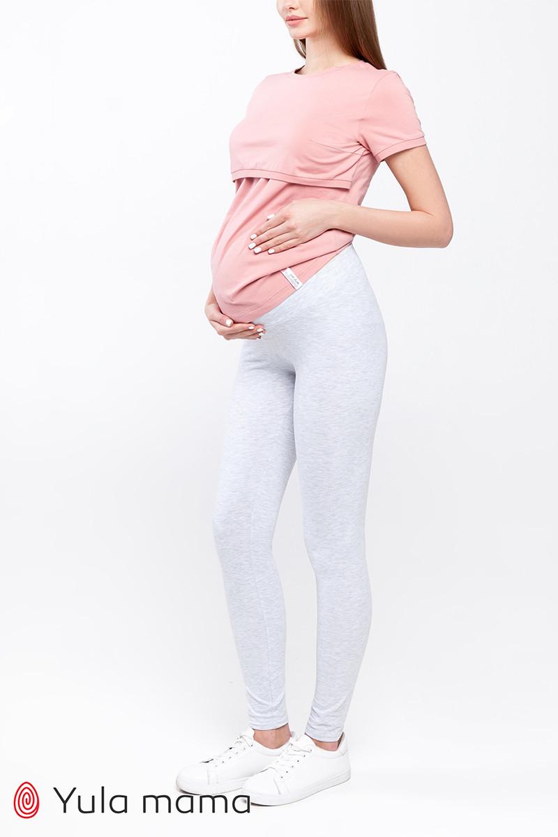 Лосини для вагітних під животик бавовняні сірі Юла Мама Kaily new SP-10.022 xS