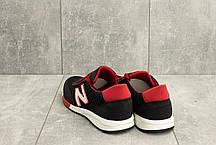 Мужские кроссовки текстильные летние черные-красные Brand M 22, фото 2