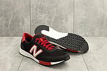 Мужские кроссовки текстильные летние черные-красные Brand M 22, фото 3