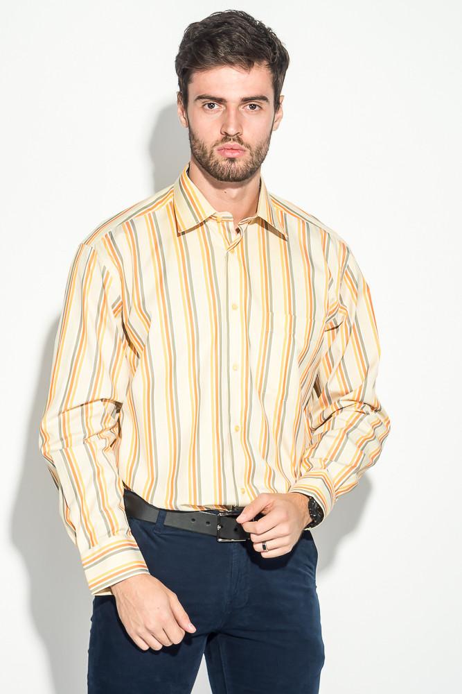 Рубашка 50PD0119 цвет Салатово-коралловый