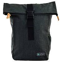 Городской молодежный рюкзак темно-серый для парней Smart Roll-top T-70 Grun для студентов (557590)