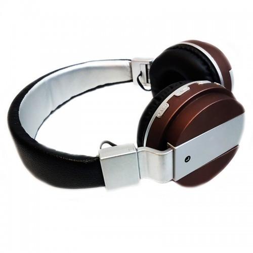 Беспроводные Bluetooth Наушники 68 Коричневые (85517) (Sf)