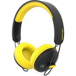 Беспроводные Bluetooth Наушники Awei A800Bl Черные С Желтым (88703) (Sf)