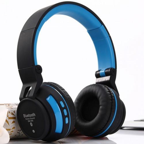 Беспроводные Bluetooth Наушники Supero Sm-896 Синие (88229) (Sf)