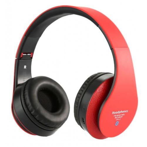 Беспроводные Bluetooth Наушники Supero Stn-12 С Mp3/fm Красные (80520) (Sf)