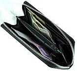 Кожаный женский кошелек на молнии Eminsa 2069-5-1 черный, фото 6