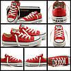 Кеды Converse Style All Star Красные низкие (36р) Тотальная распродажа, фото 4