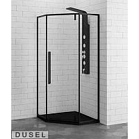 Душевая кабина 90х90см DUSEL DL197 Black Matt