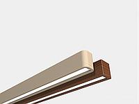 Лінійний деревяний світильник 22Вт 2800лм WOODLINE-60см інтер'єру єрний підвісний, фото 1
