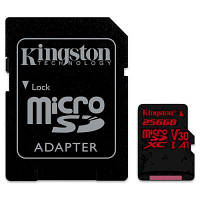 Карта памяти Kingston 256GB microSDXC class 10 UHS-I U3 (SDCR/256GB)