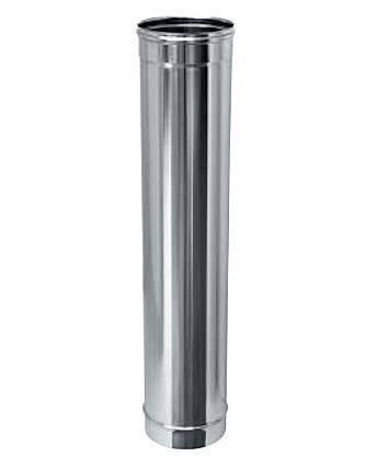 Труба дымоходная 1 м нерж. ø130 мм (толщина 0,8 мм), фото 2