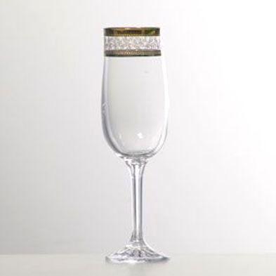 Набор бокалов для шампанского 180 мл 6 шт Diana Bohemia 40157/43081/180