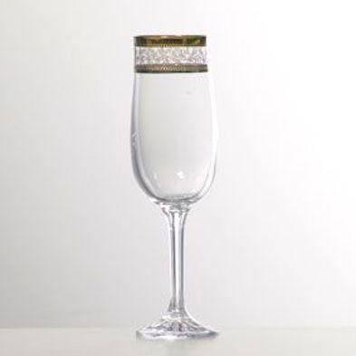 Набор бокалов для шампанского 180 мл 6 шт Diana Bohemia 40157/43081/180, фото 2