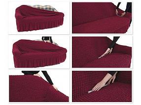 Чехол на диван и два кресла Жаккард Натуральный Milano Karna Турция 50164, фото 2