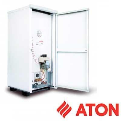 Котёл газовый напольный Атон АОГВМ-12,5Е Дым, одноконтурный