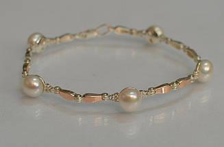 Срібний браслет з перлами Бр19