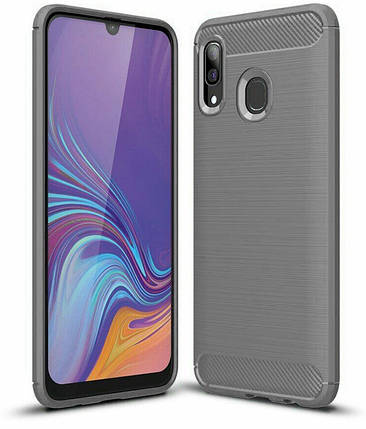 Чохол-накладка Ipaky Slim Anti-Fingerprint TPU Case Samsung A205F/A305F Galaxy A20/A30 Gray #I/S, фото 2