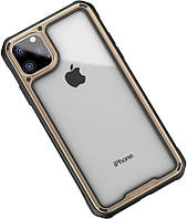 Чехол-накладка Ipaky Mufull Series TPU+PC Case Apple iPhone 11 Pro Gold #I/S