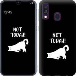 "Чехол на Galaxy A40 2019 A405F Уставший кот ""4535c-1672-328"""