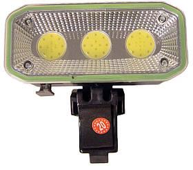 Велофара ліхтар велосипедний акумуляторний на кліпсі з зарядкою HLV CB-963