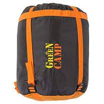 Спальник GreenCamp, одеяло, 450гр/м2, черно/оранжевый, фото 2