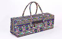 Сумка для фитнеса и йоги Yoga bag FODOKO FI-6970-2 (размер 20смх19смх64см, полиэстер, хлопок, темно-синий-фиолетовый)