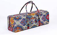 Сумка для фитнеса и йоги Yoga bag FODOKO FI-6970-1 (размер 20смх19смх64см, полиэстер, хлопок, серый-оранжевый)