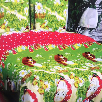 Полуторный комплект постельного белья 150/220 с детским рисунком,одна нав-ка 70/70,ткань поплин 100% хлопок, фото 2