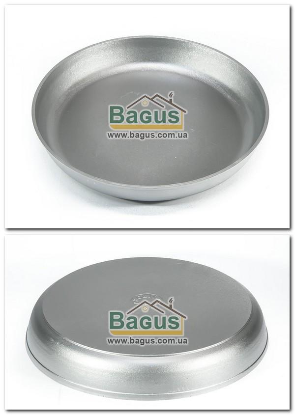 Форма для выпечки алюминиевая 36см (сковорода без ручек, противень круглый) Пролис (П-360)