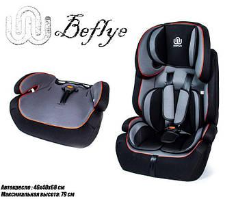 Детское Автокресло BeFlye (9-36 кг) Черное