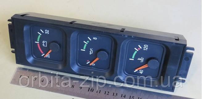 ЭК-8048-2 Комбинация приборов МАЗ 5440 нов. обр. (давление масла+температура+зарядка) (ВЗЭП) ЭК 8048-2-380500