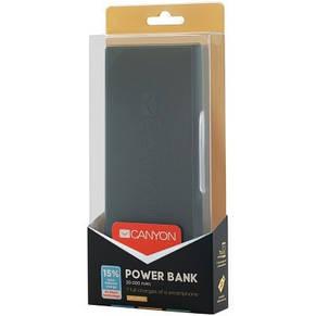 Универсальная мобильная батарея Canyon 20000mAh Dark Grey (CNE-CPBF200DG), фото 3