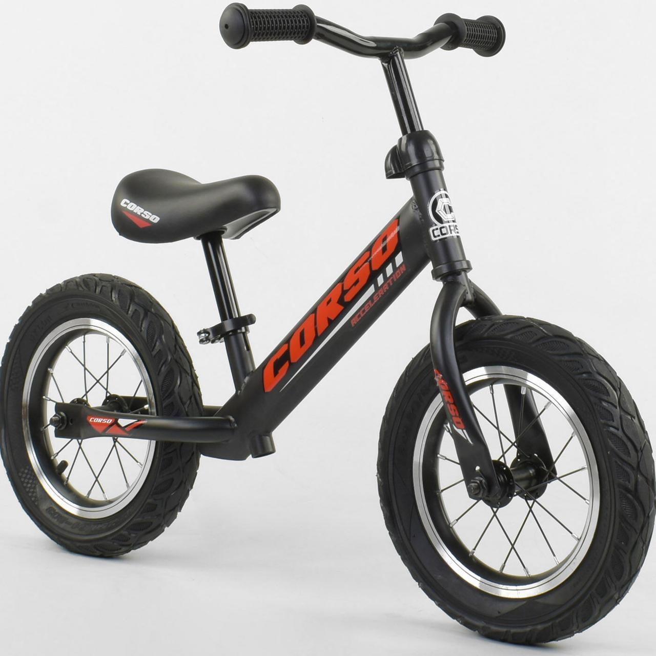 Велобег CORSO 42812 стальная рама. колесо 12 надувные колёса