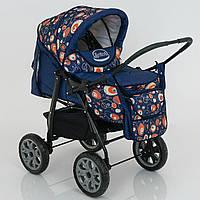 Коляска для детей с надувными колесами Viki 86- C 130 абстракция