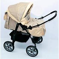 Коляска для детей с надувными колесами Viki 86- C 31 бежевый