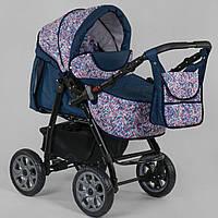 Коляска для детей с рождения Viki 86-01-04 абстракция