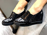 Ботинки на танкетке слипы танкетка Versace, фото 1