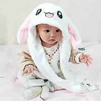 Шапка заяц с движущимися ушами кигуруми