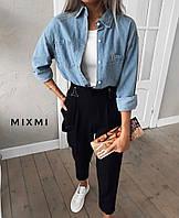Женские стильные штаны с подтяжками, фото 1