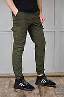 Джоггеры мужские с карманами хаки, спортивные штаны мужские