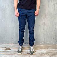 Мужские штаны джоггеры под джинс синие