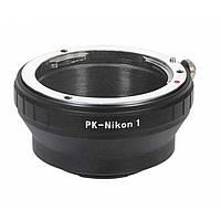 Адаптер переходник Pentax PK K - Nikon 1 J1 кольцо Ulata