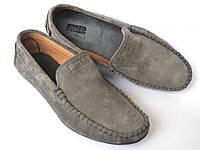 Мужские мокасины серые замшевые стильные весенняя обувь Rosso Avangard Alberto Grey, фото 1