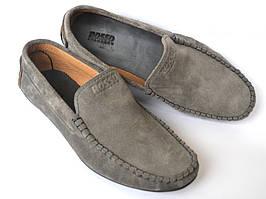 Мужские мокасины серые замшевые стильные весенняя обувь Rosso Avangard Alberto Grey