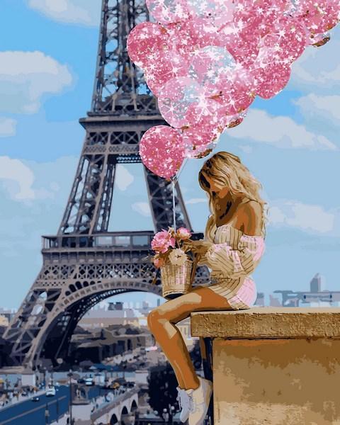 Картина по номерам VP1236 Над Парижем, 40x50 см., Babylon