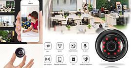 Мини-камера V380 (WiFi) p2p, IP (удаленный просмотр) + крепления