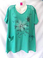 Женская футболка большой размер BD311 микс цветов Китай оптом